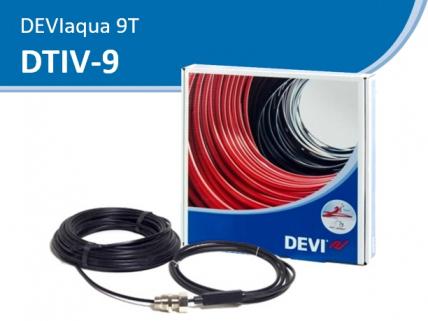 DEVIaqua 9Т (DTIV-9) резистивный кабель, установка в трубу