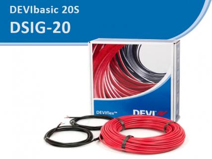 DEVI DSIG-20 кабель одножильный резистивный, с мощностью 20 Вт/м