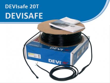 DEVIsafe 20T кабель резистивный, с мощностью 20 Вт/м
