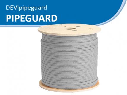 DEVI Pipeguard саморегулирующийся кабель, установка на трубу
