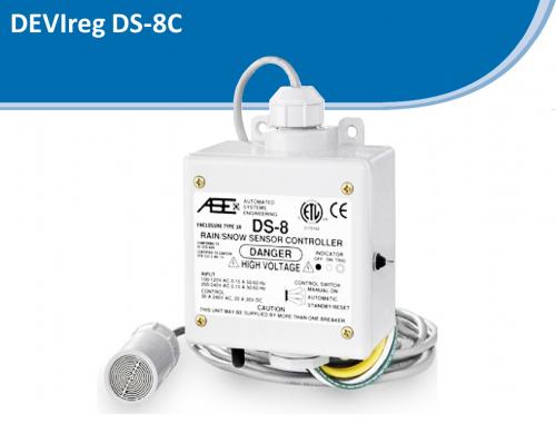 Контроллер для кровли DS-8С с датчиками влажности и температуры